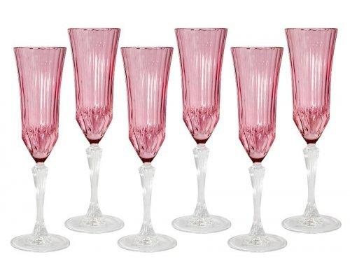 Набор: 6 бокалов для шампанского Same Адажио - розовая