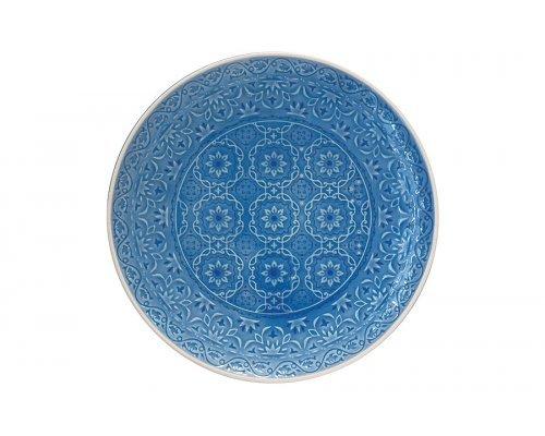 Тарелка обеденная (голубая) Ambiente Easy Life R2S без индивидуальной упаковки