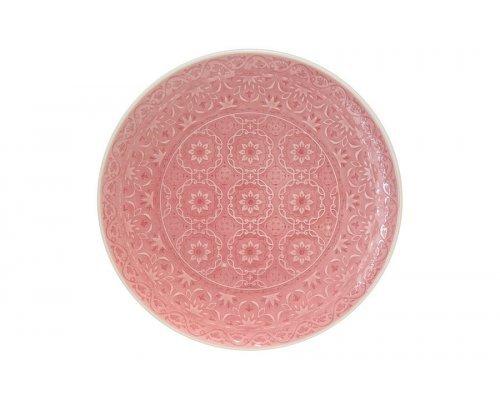 Тарелка обеденная (розовая) Ambiente Easy Life R2S без индивидуальной упаковки