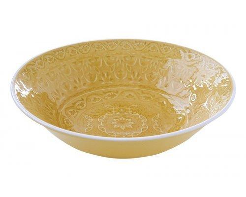 Тарелка суповая (жёлтая) Ambiente Easy Life R2S без индивидуальной упаковки