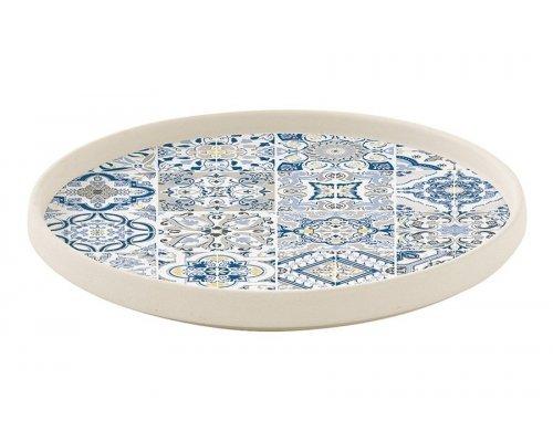 Тарелка закусочная (синяя) Casadecor Easy Life R2S без индивидуальной упаковки