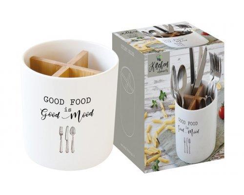Банка-подставка для кухонных инструментов Kitchen Elements Easy Life R2S в подарочной упаковке