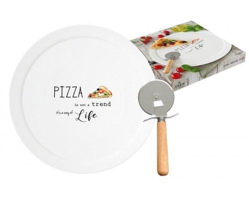 Набор для пиццы: блюдо и нож Kitchen Elements Easy Life R2S в подарочной упаковке