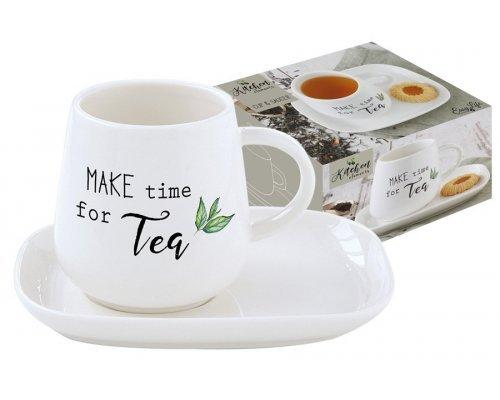 Чашка с блюдцем Kitchen Elements Easy Life R2S в подарочной упаковке