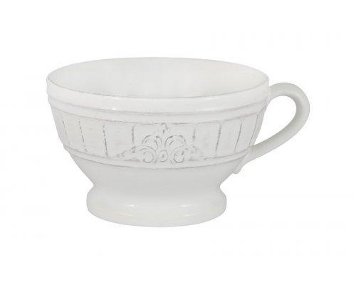 Чашка для завтрака, суповая чашка Venice (белая) Matceramica без индивидуальной упаковки