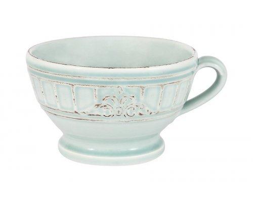 Чашка для завтрака, суповая чашка Venice (голубая) Matceramica без индивидуальной упаковки