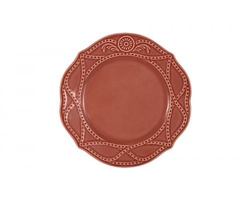 Тарелка закусочная Villa (красная) Matceramica без индивидуальной упаковки