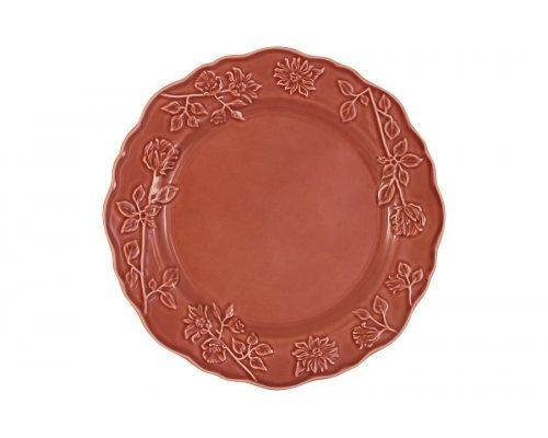 Тарелка обеденная Villa (красная) Matceramica без индивидуальной упаковки