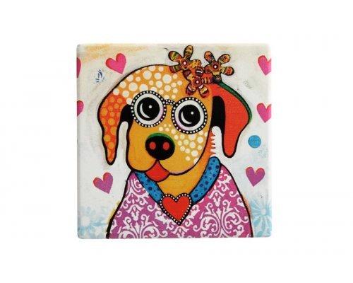 Подставка керамическая Весёлый щенок без индивидуальной упаковки