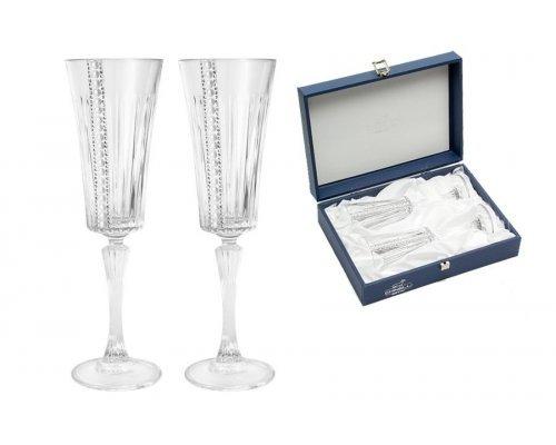 Набор из 2-х бокалов для шампанского Gamma Chinelli Perlato