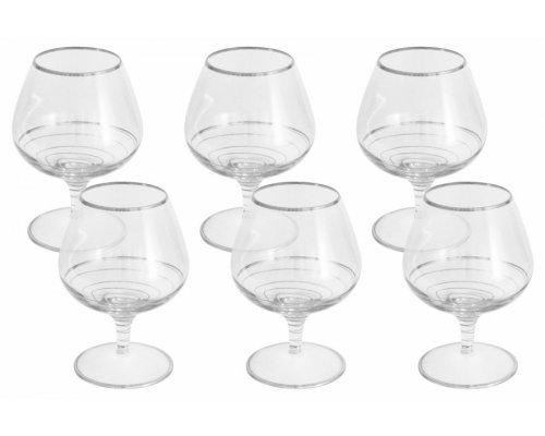 Набор: 6 бокалов для коньяка Same Спираль (серебро)