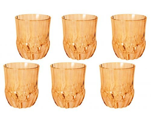 Набор: 6 стаканов для виски Same Адажио - янтарная
