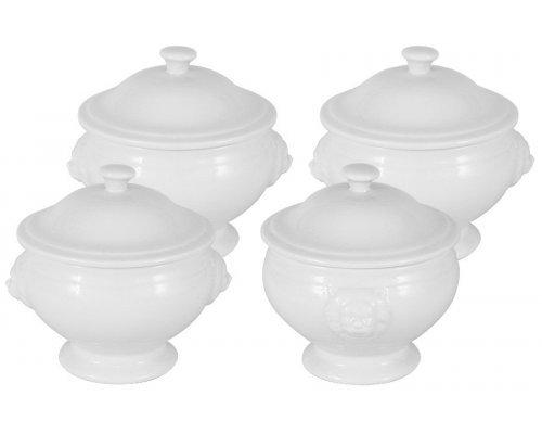Набор из 4-х сервировочных чашек Белая коллекция Maxwell & Williams в подарочной упаковке