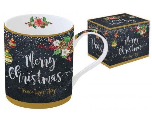 Кружка новогодняя Merry Christmas PEACE LOVE JOY Easy Life R2S (Изи Лайф) в подарочной упаковке