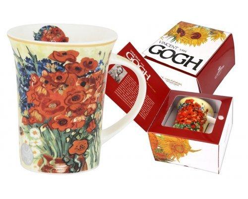 Кружка Красные маки и маргаритки (В. Ван Гог) Carmani 0.35 л