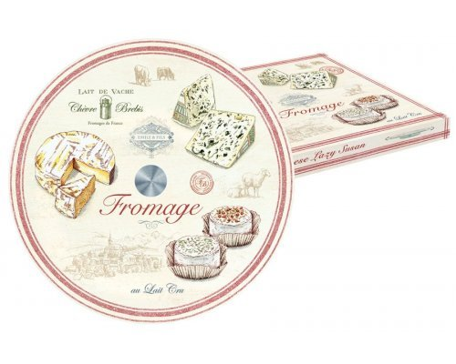 Блюдо стеклянное для сыра (вращающееся) FROMAGE Easy Life R2S (Изи Лайф) в подарочной упаковке