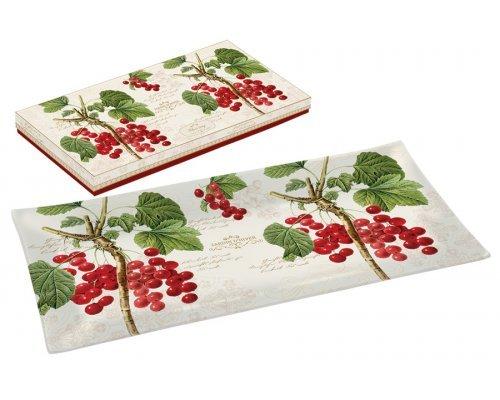 Тарелка прямоугольная Красная смородина Easy Life R2S (Изи Лайф) в подарочной упаковке