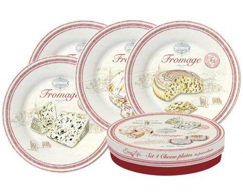 Набор из 4-х тарелок FROMAGE Easy Life R2S 19 см в подарочной упаковке