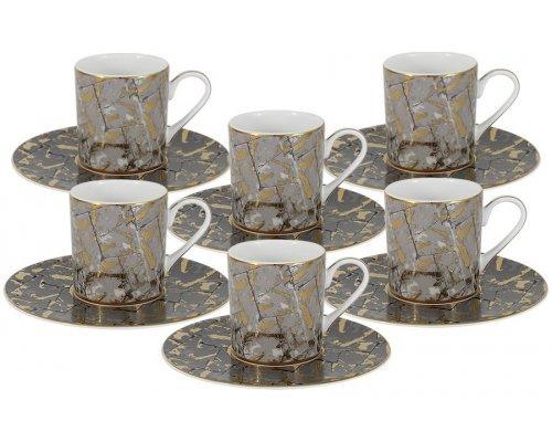 Кофейный набор Злата Naomi: 6 чашек + 6 блюдец