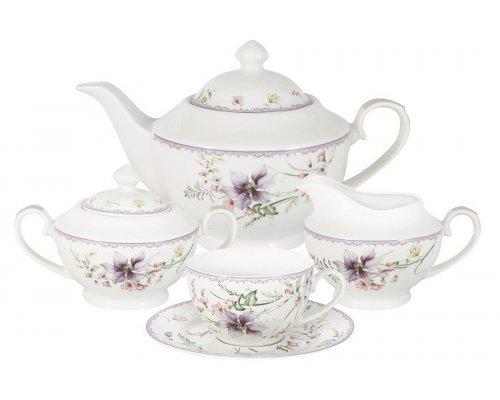 Чайный сервиз из 15 предметов на 6 персон Селена Anna Lafarg Primavera в подарочной упаковке