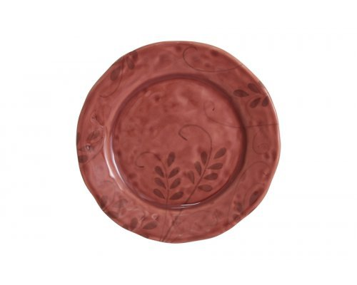 Тарелка закусочная Листопад (бордо) без индивидуальной упаковки