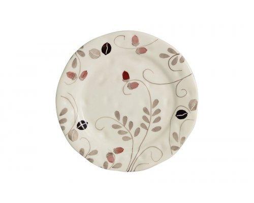 Тарелка закусочная Листопад (кремовый) без индивидуальной упаковки