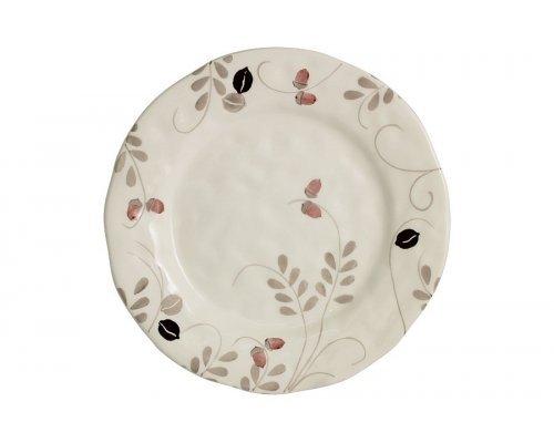 Тарелка обеденная Листопад (кремовый) без индивидуальной упаковки