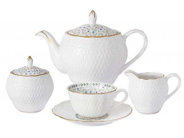 Чайный сервиз из 15 предметов на 6 персон Грация
