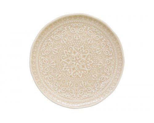 Тарелка закусочная (бежевый) Abitare без индивидуальной упаковки