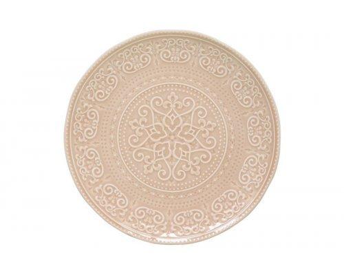 Тарелка обеденная (бежевый) Abitare без индивидуальной упаковки