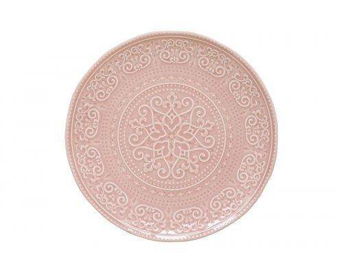 Тарелка обеденная (розовый) Abitare без индивидуальной упаковки