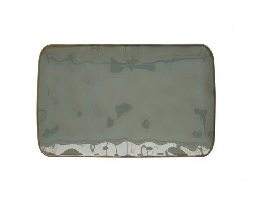 Тарелка прямоугольная (серый) Interiors без индивидуальной упаковки
