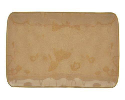 Тарелка прямоугольная большая (коричневый) Interiors без индивидуальной упаковки
