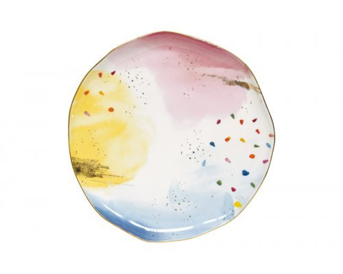 Тарелка обеденная Брызги красок без индивидуальной упаковки