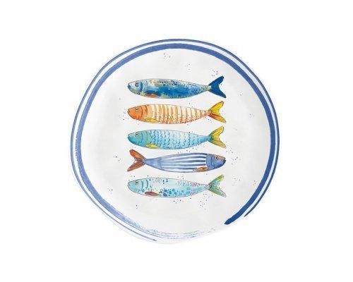 Тарелка закусочная Морской берег без индивидуальной упаковки