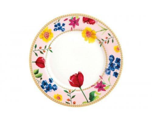 Тарелка десертная (розовый) Contessa в подарочной упаковке