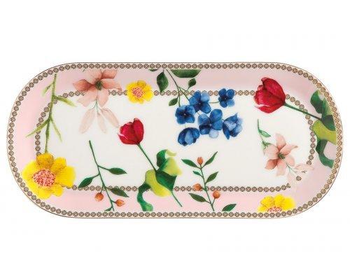 Тарелка сервировочная (розовый) Contessa в подарочной упаковке