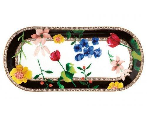 Тарелка сервировочная (чёрный) Contessa в подарочной упаковке