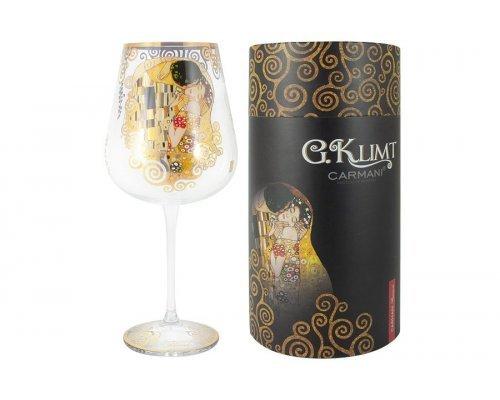 Бокал для вина Поцелуй (Г.Климт) Carmani в подарочной упаковке