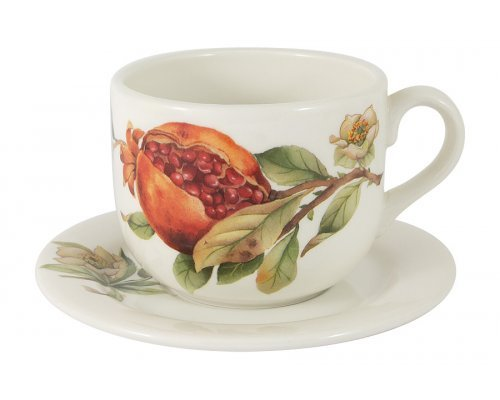 Чашка с блюдцем Гранат Julia Vysotskaya 0,4 л без индивидуальной упаковки