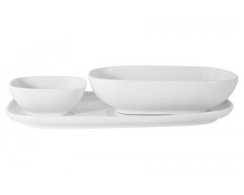 Набор посуды Форма Maxwell & Williams белый: тарелка + 2 салатника в подарочной упаковке