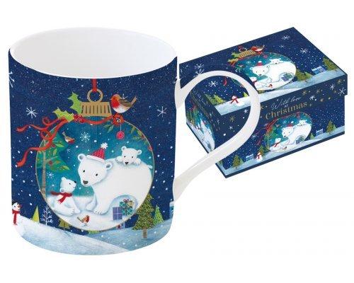 Кружка Новогодняя сказка, Медведи Easy Life R2S 0,34 л в подарочной упаковке