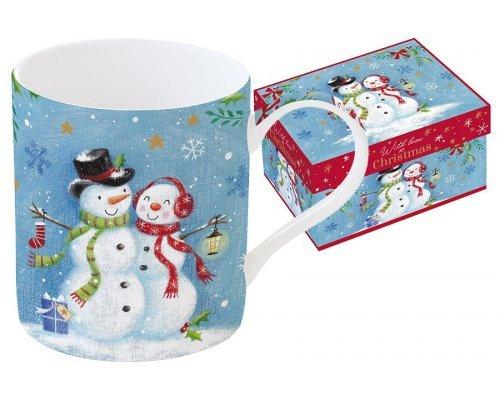 Кружка Новогодняя сказка. Снеговики Easy Life R2S в подарочной упаковке.
