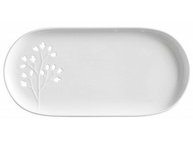 Тарелка овальная белая Листья Maxwell & Williams в подарочной упаковке