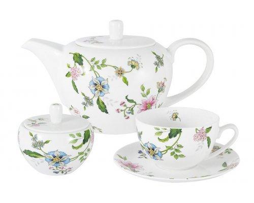 Чайный сервиз на 6 персон 14 предметов Provence Anna Lafarg Emily в подарочной упаковке