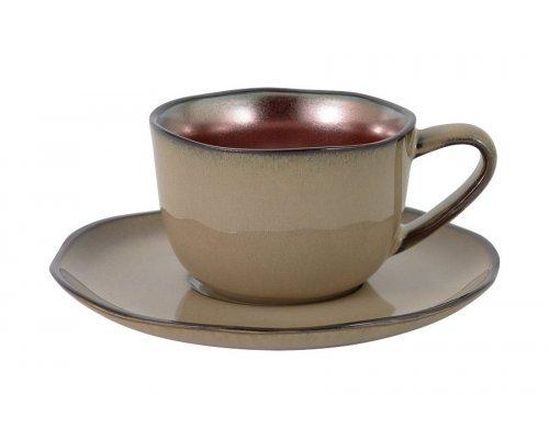 Чашка с блюдцем Copper Julia Vysotskaya в фирменной упаковке 0.18 л