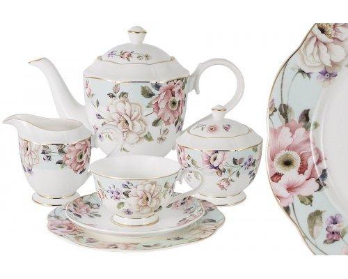 Чайный сервиз Весенний сад Anna Lafarg Emily 21 предмет на 6 персон в подарочной упаковке