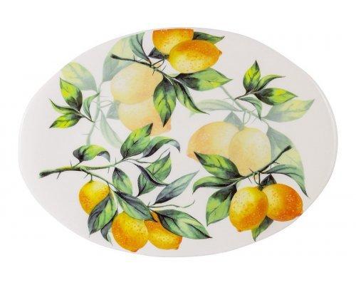 Блюдо овальное Лимоны Julia Vysotskaya 39х28см без индивидуальной упаковки