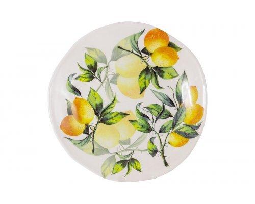 Тарелка обеденная Лимоны Julia Vysotskaya 29 см без индивидуальной упаковки