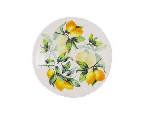 Тарелка салатная Лимоны Julia Vysotskaya 22 см без индивидуальной упаковки